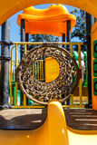 Colorful children playground in a park Royalty Free Stock Photos