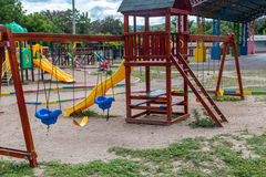 Colorful children playground in a park. Colorful Children's Playground, Nicaragua Royalty Free Stock Photos