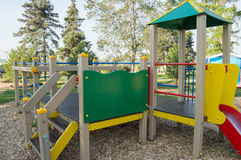 Colorful Children's Playground in the city Park.  Royalty Free Stock Photo