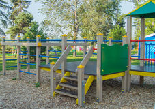 Colorful Children's Playground in the city Park.  Stock Photos