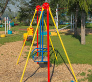 Colorful Children's Playground in the city Park.  Royalty Free Stock Image