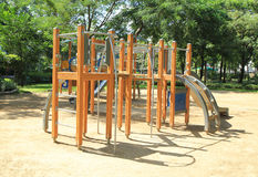 Colorful children's playground. In the park Royalty Free Stock Image