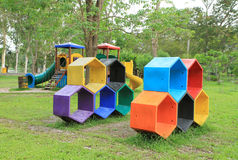 Colorful children's playground. In the park Royalty Free Stock Photography