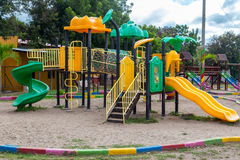 Colorful Children's Playground in the park Royalty Free Stock Photo