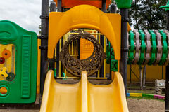 Colorful Children's Playground in the park Stock Photos