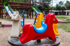 Colorful Children's Playground in the park. Colorful Children's Playground in Nicaragua Stock Photography