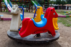 Colorful Children's Playground in the park Royalty Free Stock Photos