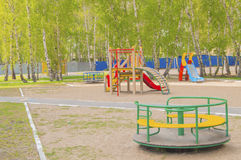 Colorful children's Playground in the Park. Summer, vacation, nobody Stock Image