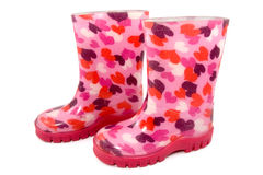 Colorful children's rain boots Royalty Free Stock Image