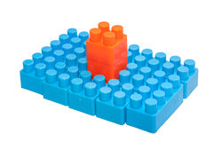 Colorful children's toys,Plastic building blocks. This has clipping path Royalty Free Stock Photos