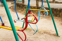 Colorful children swing in playground.Toys for children.  Royalty Free Stock Photography