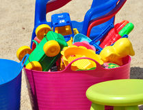 Colorful children toys Stock Image