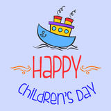 Colorful childrens day style background Royalty Free Stock Images