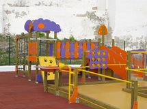 A colorful childrens playground Stock Photography