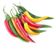 Colorful chili peppers Royalty Free Stock Images