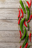Colorful chili peppers Royalty Free Stock Photography