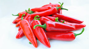 Colorful chilli pepper. Isolate on white background. Raw material for food or cooking Stock Image