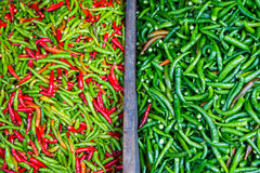 Colorful chillies for sale at market Royalty Free Stock Photo