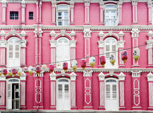 Colorful Chinatown Architecture of Singapore Stock Photo
