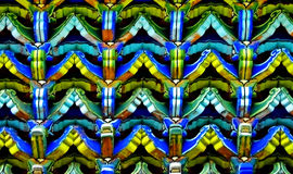 Colorful Chinese architecture detail Royalty Free Stock Photos