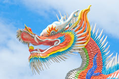 Colorful Chinese dragon Stock Image