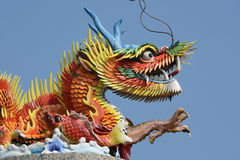 Colorful Chinese Dragon. Dragon. It was at a scenic spot, overlooking the sea. Dragons are very symbolic in Chinese Culture stock photo