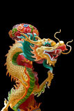 Colorful chinese dragon in Chinese Temple at Phitsanulok, Thailand Royalty Free Stock Photo