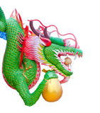 Colorful Chinese dragon hold gold bag Stock Photography