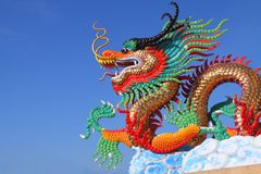Colorful Chinese Dragon Statue Royalty Free Stock Photo