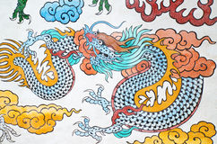 Colorful chinese dragon in temple,  Thailand Royalty Free Stock Photo