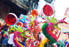Colorful chinese dragon toy Royalty Free Stock Images