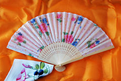 Colorful chinese Folding fan Royalty Free Stock Image