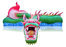 Colorful Chinese Golden Dragon statue Royalty Free Stock Photos
