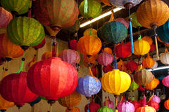 Colorful Chinese lanterns Stock Image