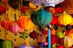Colorful Chinese lanterns Royalty Free Stock Photo