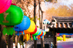Colorful chinese lanterns Stock Images