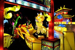 Colorful Chinese Light Festival - Chinese opera. royalty free stock photo