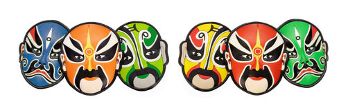 Colorful Chinese opera face masks Royalty Free Stock Image