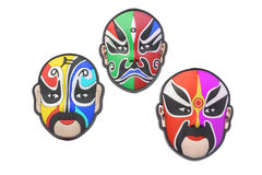 Colorful Chinese opera masks Stock Image