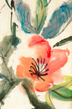 Colorful Chinese painting Royalty Free Stock Photos