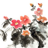 Colorful Chinese painting vector illustration