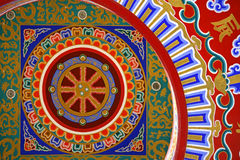 A colorful Chinese Painting on the ceiling at the Royalty Free Stock Image