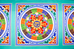 Colorful Chinese painting on ceiling Royalty Free Stock Images