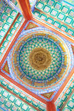Colorful Chinese pavilion roof design Stock Image