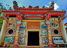 Colorful Chinese shrine Stock Photos