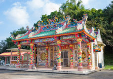 Colorful chinese temple,chanthaburi, Thailand Stock Images