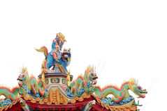 Colorful Chinese temple decoration. Royalty Free Stock Photos