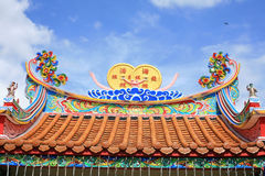 Colorful Chinese Temple Roof Royalty Free Stock Image