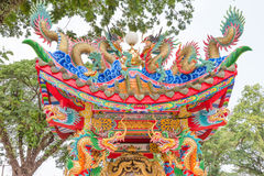 Colorful chinese temple,Thailand Royalty Free Stock Photography