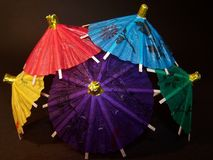 Colorful Chinese Umbrellas. A Bunch of Colorful Chinese Umbrellas Macro Royalty Free Stock Photography